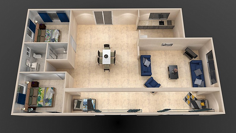Two Three Bedroom
