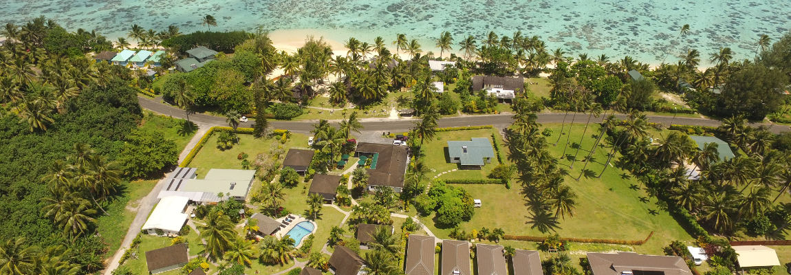 Palm Grove Resort from the Air